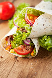 Fresh Wraps On Table Royalty Free Stock Photography