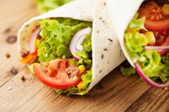 Fresh wraps on table Royalty Free Stock Images