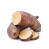 Fresh Yacon roots on white background Stock Images