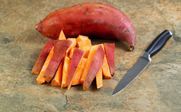 Fresh Yams for Cooking Royalty Free Stock Photo
