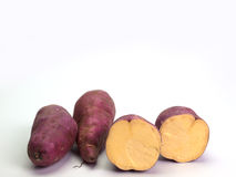 Fresh yams Stock Photography