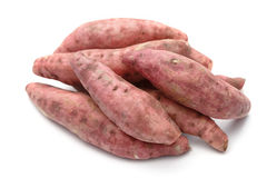 Fresh yams isolated on a white Royalty Free Stock Photo