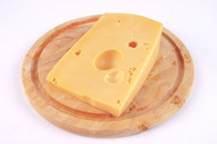 Fresh yelllow cheese Royalty Free Stock Photos