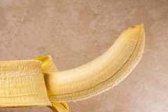 Fresh yellow banana,pealed Stock Photography