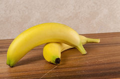 Fresh yellow bananas,wood,table Stock Images