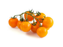 Fresh yellow cherry tomatoes. Isolated on white background Royalty Free Stock Image