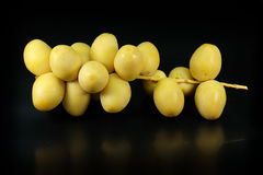 Fresh yellow dates Royalty Free Stock Images