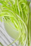 Chives yellow raw - cooking ingredient Stock Image