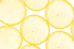 Fresh yellow lemon background Stock Photography