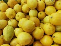 Fresh yellow lemon. Background royalty free stock image