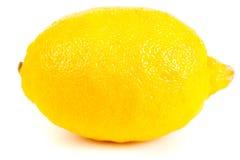Fresh yellow lemon isolated on white Stock Images