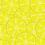 Fresh yellow lemon slices Royalty Free Stock Images