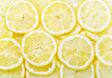 Fresh yellow lemon slices Stock Images