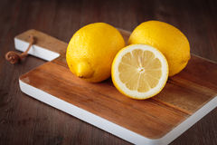 Fresh yellow lemons Stock Images