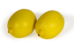 Fresh yellow lemons isolated on white Royalty Free Stock Photography