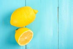 Fresh Yellow Lemons On Table Stock Image