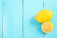 Fresh Yellow Lemons On Table Royalty Free Stock Photography