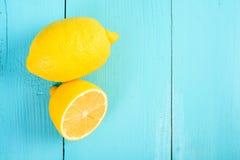 Fresh Yellow Lemons On Table Royalty Free Stock Image