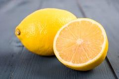 Fresh Yellow Lemons On Table Royalty Free Stock Photo