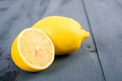 Fresh Yellow Lemons On Table Royalty Free Stock Photos