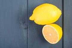 Fresh Yellow Lemons On Table Stock Images