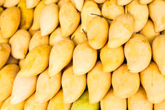 Fresh yellow mango. Fruit market with various colorful fresh fruits and vegetables Stock Images