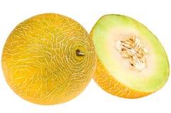 Fresh yellow melon Stock Images