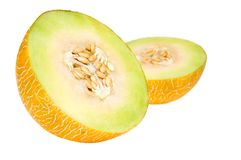 Fresh yellow melon Royalty Free Stock Photos