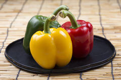 Fresh yellow red green Bell Pepper Royalty Free Stock Photo