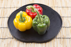 Fresh yellow red green Bell Pepper Stock Image