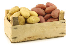 Fresh yellow and red small potatoes Royalty Free Stock Images
