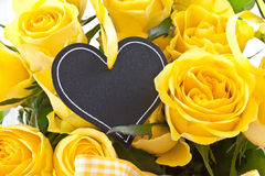 Fresh yellow roses. Bouquet of fresh, fully blossomed yellow roses Royalty Free Stock Photo