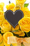 Fresh yellow roses Royalty Free Stock Images