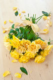 Fresh yellow roses Stock Photo