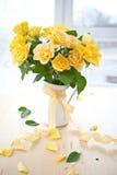 Fresh yellow roses Stock Photo