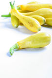 Fresh yellow squash from the garden vertical Royalty Free Stock Photo