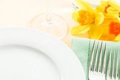 Fresh Yellow Table Setting Royalty Free Stock Photos