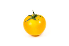 Fresh yellow tomato on white background Royalty Free Stock Images