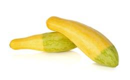 Fresh yellow zucchini on white Royalty Free Stock Photography