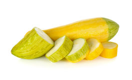 Fresh yellow zucchini on white Stock Photography