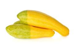 Fresh yellow zucchini on white Royalty Free Stock Photos