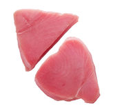 Fresh yellowfin tuna steaks Royalty Free Stock Photos