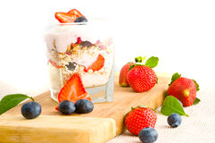 Fresh yoghurt Stock Photos