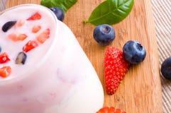 Fresh yoghurt Stock Image