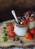 Fresh yogurt acnd berries Stock Photo