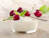 Fresh yogurt with berries Stock Photography