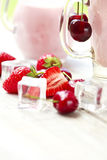 Fresh yogurt with fruit in a glass Royalty Free Stock Photo
