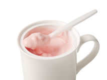 Fresh yogurt in a glass Royalty Free Stock Image