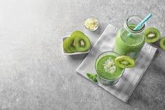 Free Fresh Yogurt Smoothie With Kiwi Royalty Free Stock Image - 110694866
