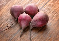 Fresh young beets. On table Stock Photography